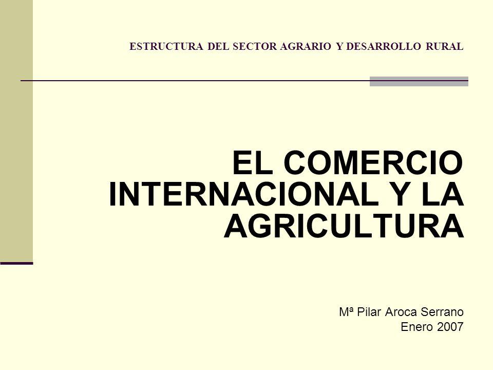 ESTRUCTURA DEL SECTOR AGRARIO Y DESARROLLO RURAL EL COMERCIO INTERNACIONAL Y LA AGRICULTURA Mª Pilar Aroca Serrano Enero 2007