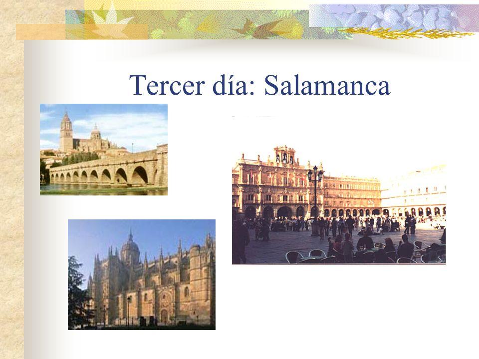 Tercer día: Salamanca