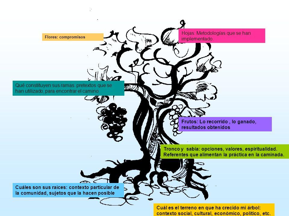 Cuál es el terreno en que ha crecido mi árbol: contexto social, cultural, económico, político, etc. Cuáles son sus raíces: contexto particular de la c