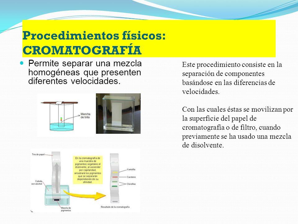 Procedimientos físicos: CRISTALIZACIÓN o PRECIPITADO Es el procedimiento más adecuado para la purificación de sustancias sólidas.. La cristalización s
