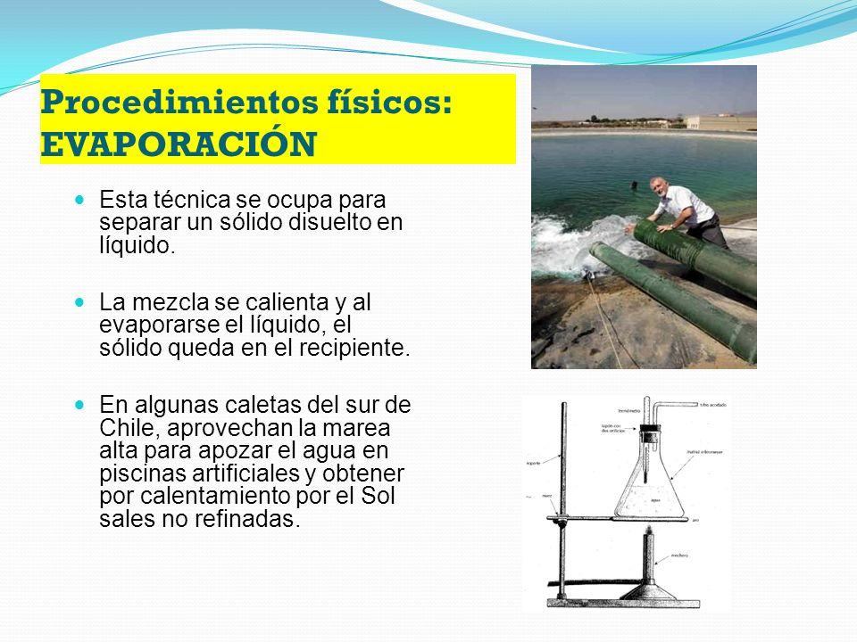Procedimientos mecánicos: LEVIGACIÓN Es un procedimiento que se basa en la diferencia de peso de varios sólidos Es el lavado de sólidos, con una corriente de agua.