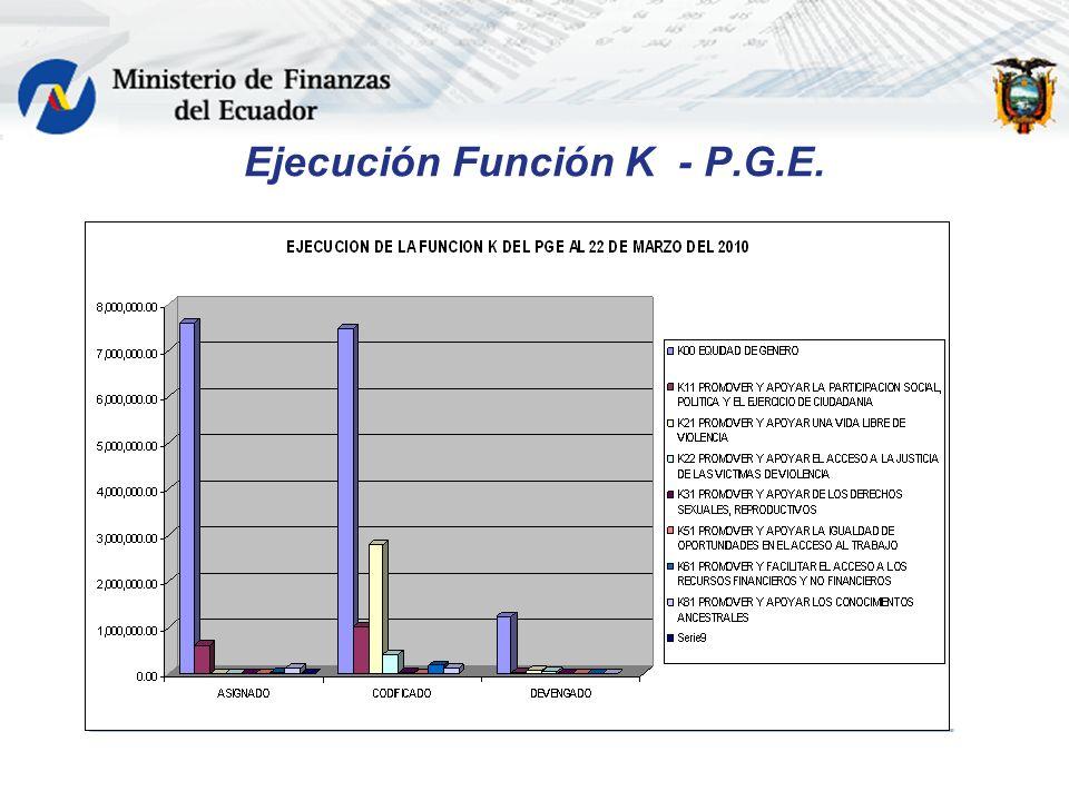 Ejecución Función K - P.G.E.