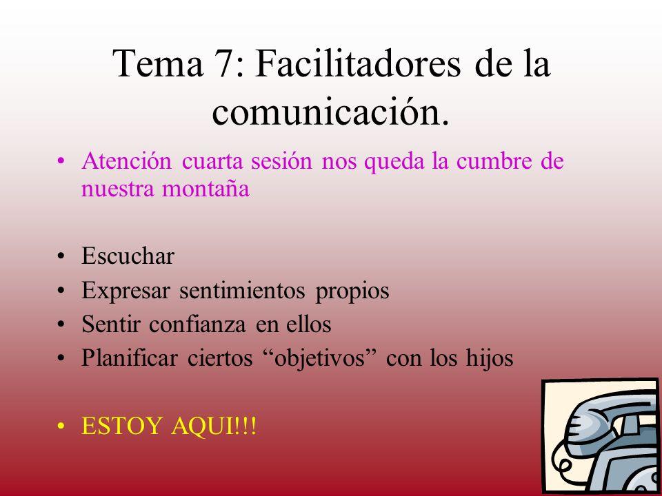 Tema 6: Desarrollo de habilidades de comunicación con los hijos Intercambio sobre qué entendemos por comunicación