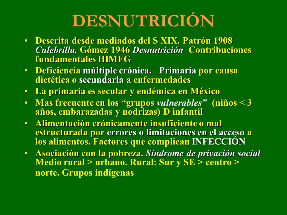 DESNUTRICIÓN INFANTIL Promedio nacional 2006 5.0% (7.5% en 1999).