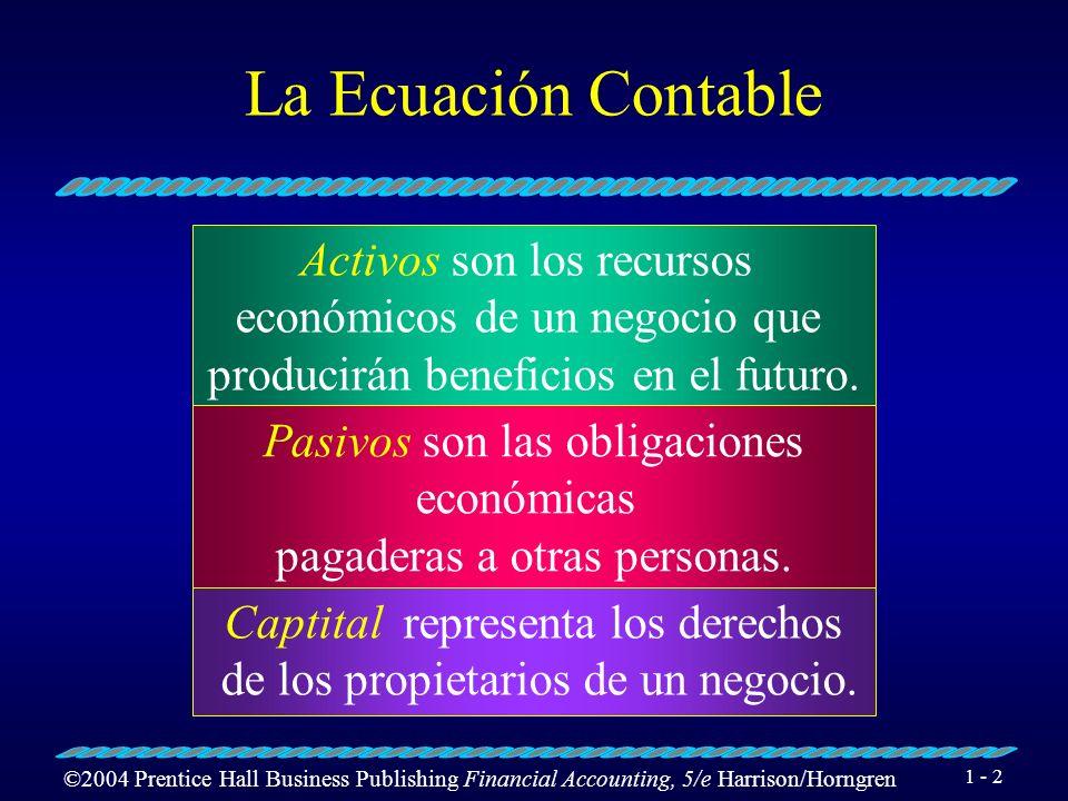 ©2004 Prentice Hall Business Publishing Financial Accounting, 5/e Harrison/Horngren 1 - 32 Expansión de la ecuación contable...
