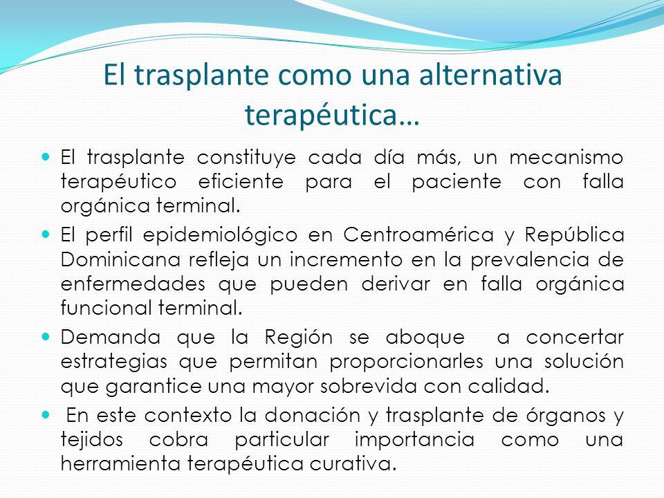 El trasplante como una alternativa terapéutica… El trasplante constituye cada día más, un mecanismo terapéutico eficiente para el paciente con falla o