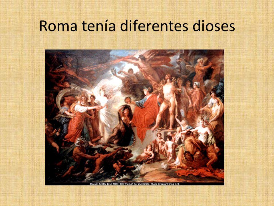 Roma tenía diferentes dioses