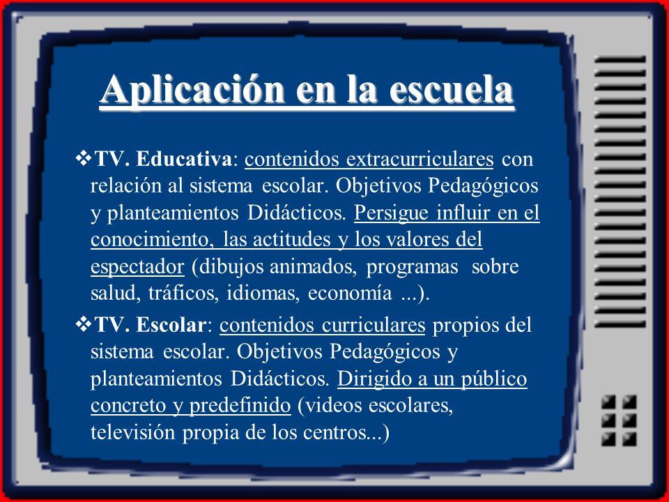 También podemos definir la televisión educativa como aquélla que se inscribe instrumentalmente en un proyecto de formación e instrucción, esto es, lo que él denomina la televisión educativo-cultural, que está destinada a ensanchar la oferta de televisión y a permitir su integración en las tareas de aprendizaje y de dinamización cultural.