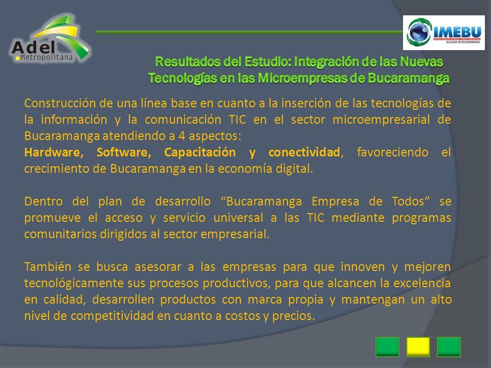 Construcción de una línea base en cuanto a la inserción de las tecnologías de la información y la comunicación TIC en el sector microempresarial de Bu