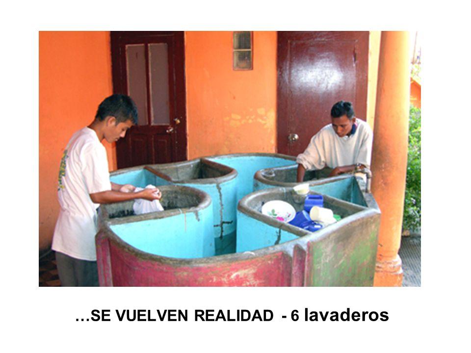 …SE VUELVEN REALIDAD - 6 lavaderos