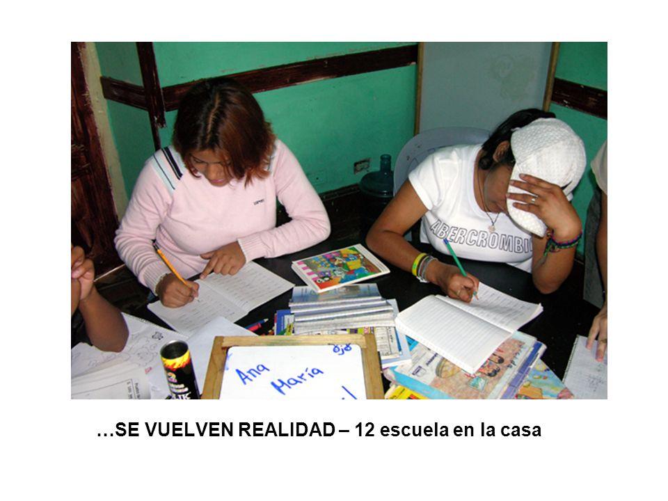 …SE VUELVEN REALIDAD – 12 escuela en la casa