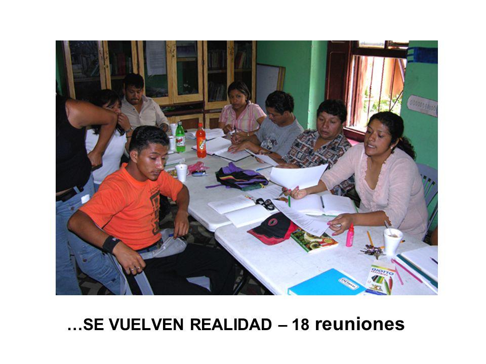 …SE VUELVEN REALIDAD – 18 reuniones