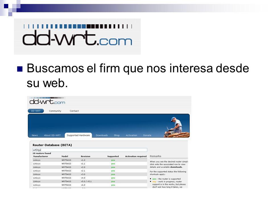 Buscamos el firm que nos interesa desde su web.