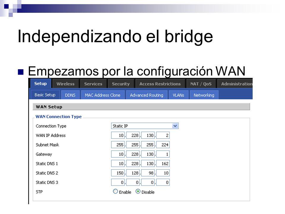 Empezamos por la configuración WAN