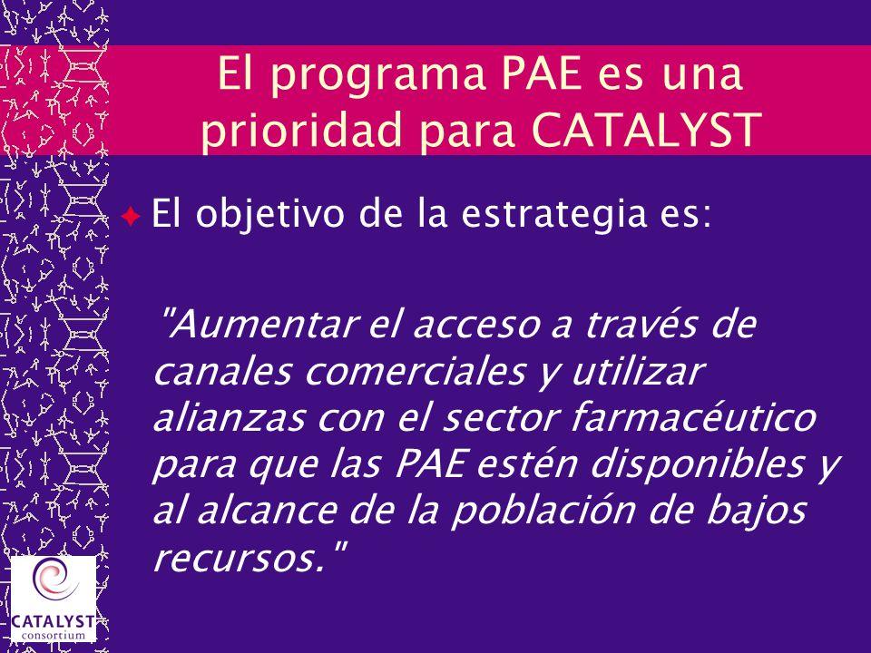 El programa PAE es una prioridad para CATALYST El objetivo de la estrategia es: