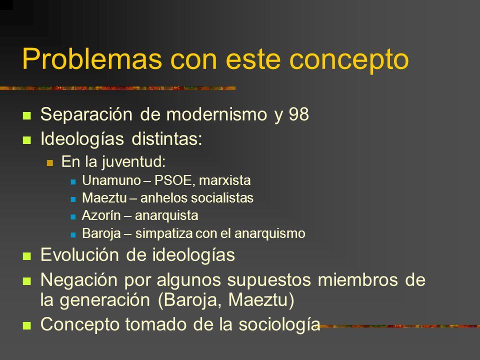 Requisitos generacionales (según Pedro Salinas) Nacimientos en años poco distantes (1864- 1875) Formación intelectual semejante Relaciones entre escri