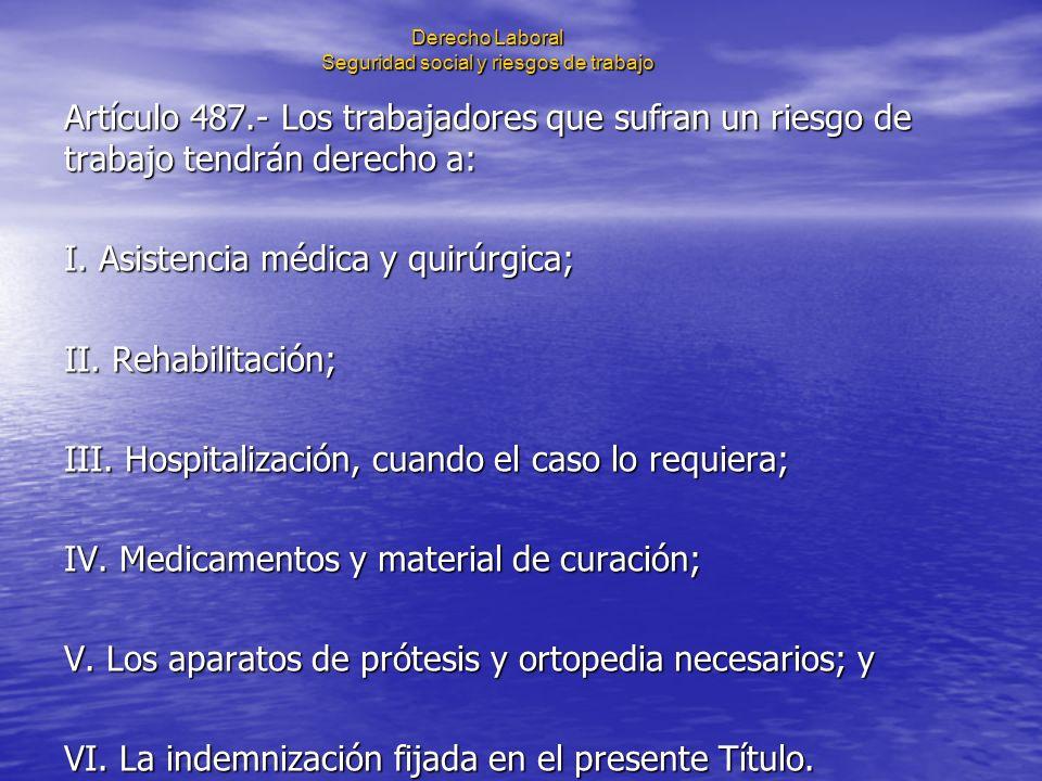 Derecho Laboral Seguridad social y riesgos de trabajo IV.