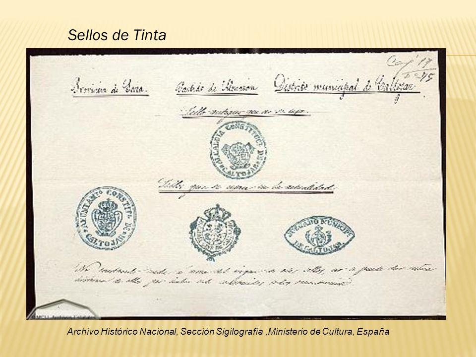 Sellos de Tinta Archivo Histórico Nacional, Sección Sigilografía,Ministerio de Cultura, España