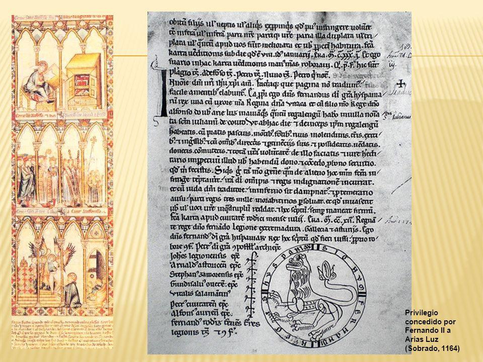 Privilegio concedido por Fernando II a Arias Luz (Sobrado, 1164)