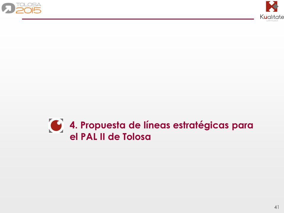 41 4. Propuesta de líneas estratégicas para el PAL II de Tolosa