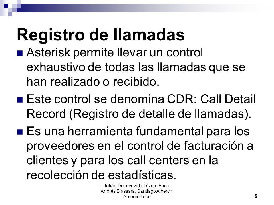 Registro de llamadas Asterisk permite llevar un control exhaustivo de todas las llamadas que se han realizado o recibido. Este control se denomina CDR