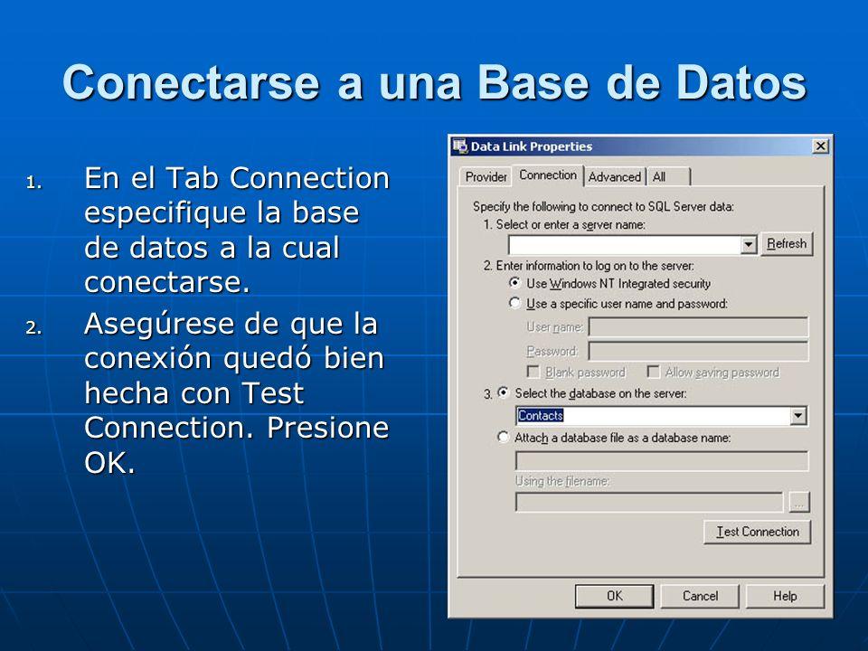 Conectarse a una Base de Datos 1.
