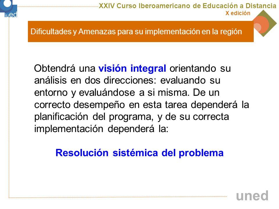 XXIV Curso Iberoamericano de Educación a Distancia X edición uned 5 Frentes fundamentales de gestión institucional