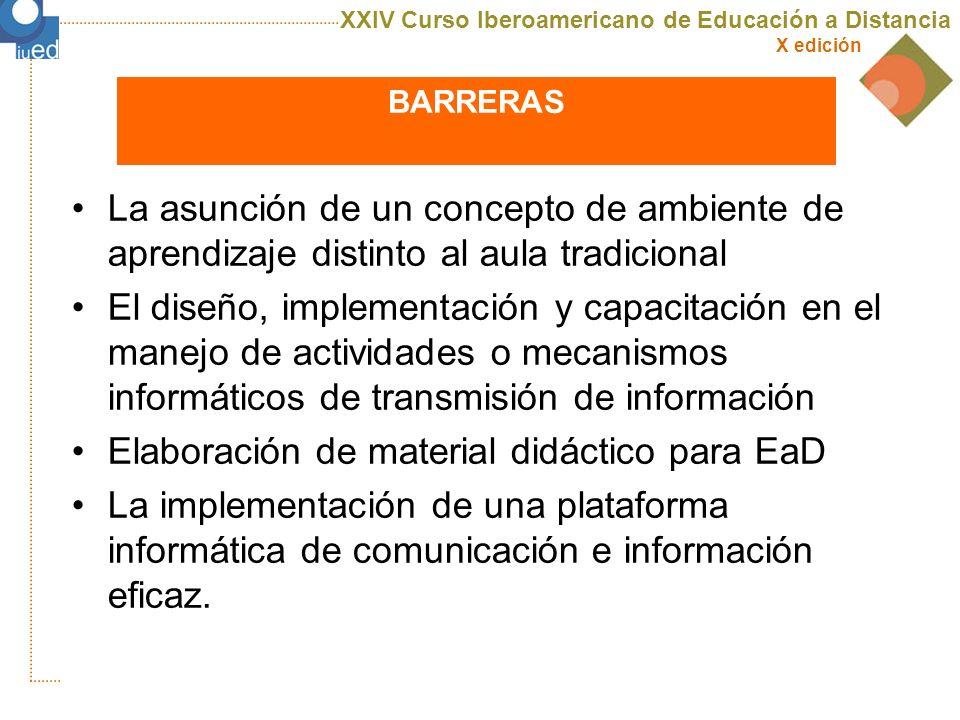 XXIV Curso Iberoamericano de Educación a Distancia X edición uned DIFICULTADES RELACIONADAS CON LA VISIÓN ESTRATÉGICA