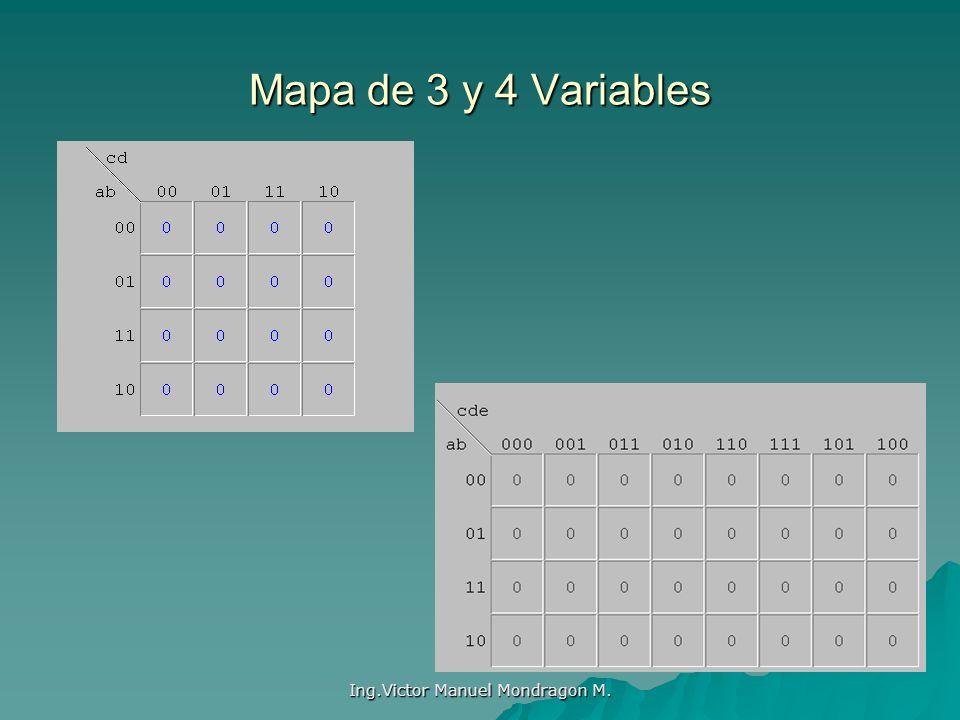 Ing.Victor Manuel Mondragon M. Mapa de 3 y 4 Variables