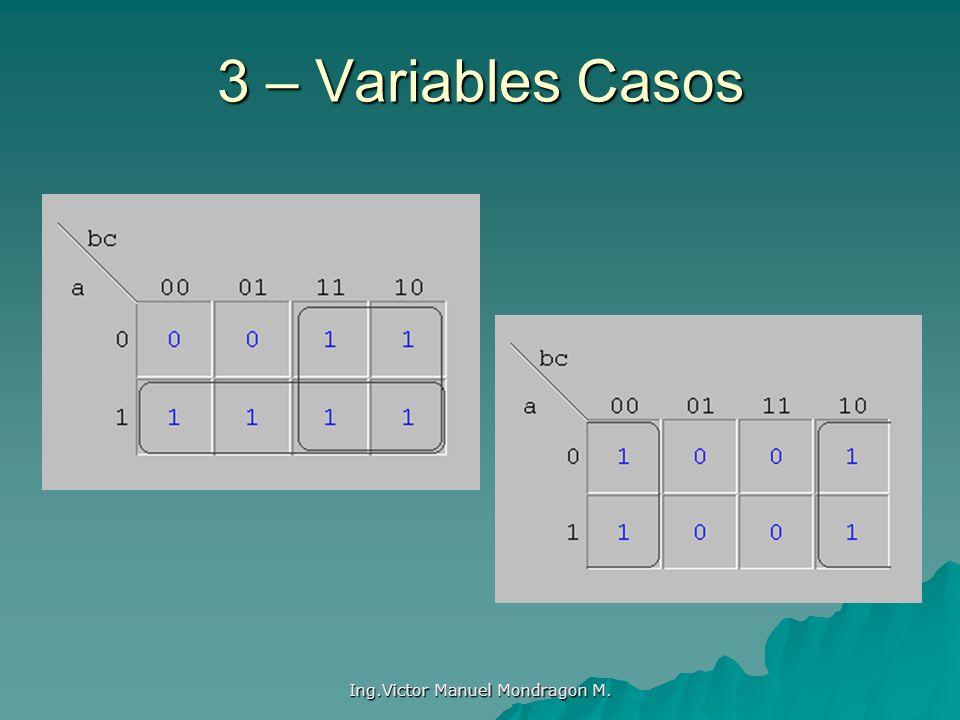 Ing.Victor Manuel Mondragon M. 3 – Variables Casos
