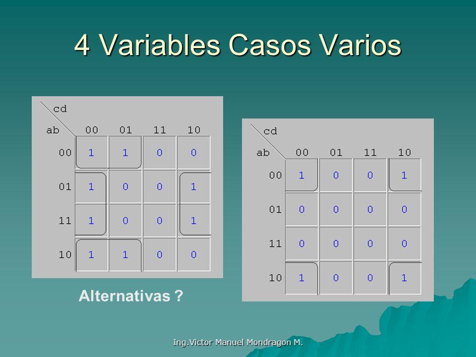 Ing.Victor Manuel Mondragon M. 4 Variables Casos Varios Alternativas ?
