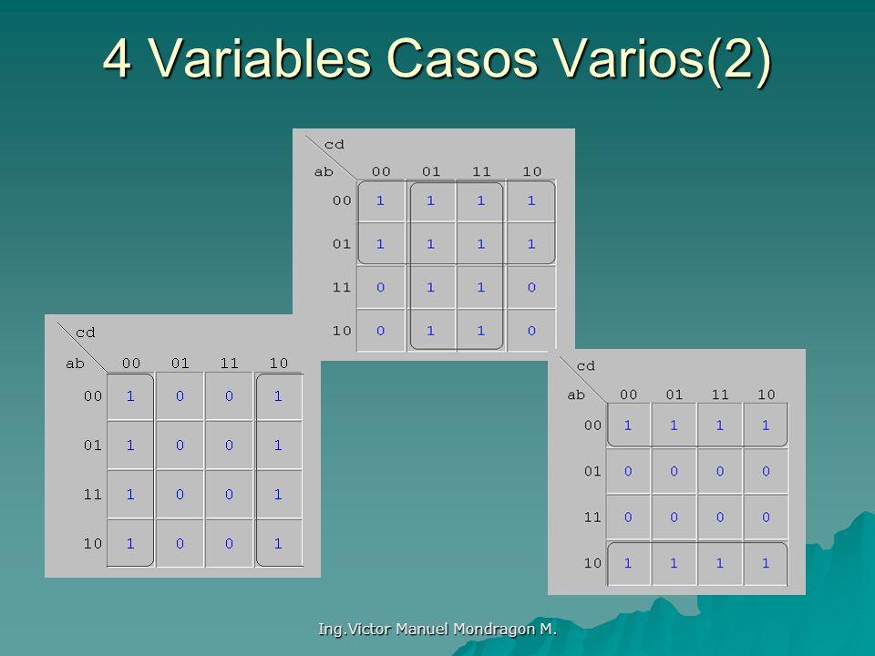 Ing.Victor Manuel Mondragon M. 4 Variables Casos Varios(2)
