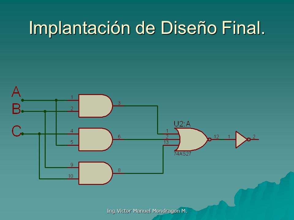 Ing.Victor Manuel Mondragon M. Implantación de Diseño Final.