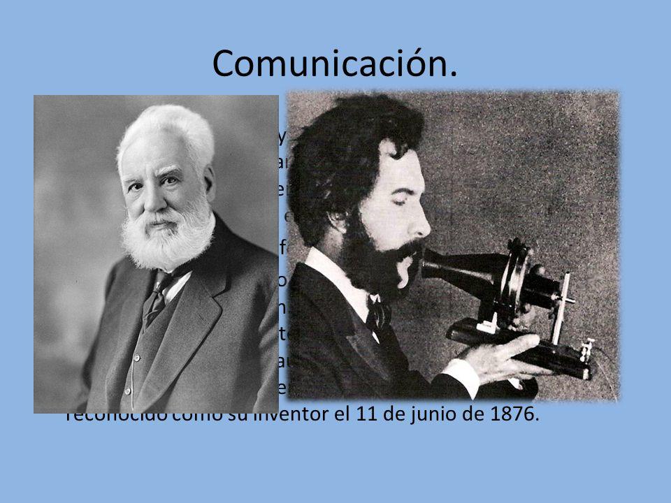 Comunicación. La comunicación va muy ligada a las nuevas tecnologías, depende de ella y a lo largo de la historia ha ido evolucionando. El primer telé