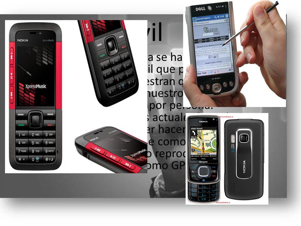 Móvil Actualmente en España se habla más por teléfono móvil que por fijo, las estadísticas muestran que el uso del móvil es de un 103% en nuestro país