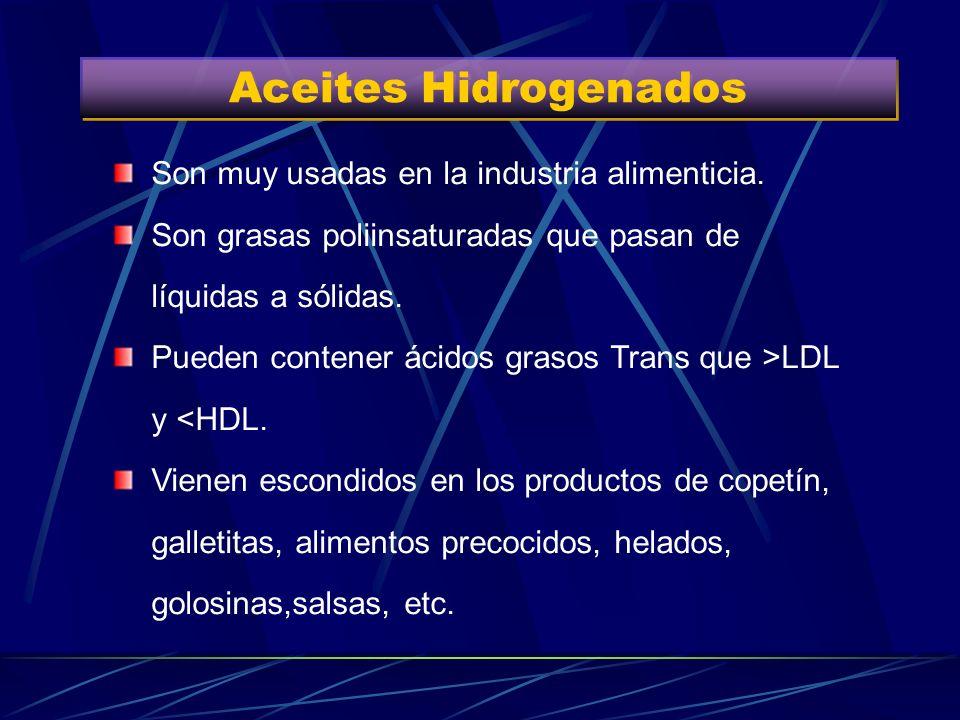 Grasas Poliinsaturadas Aceite de semillas(girasol, maíz, soja, uva y canola), frutos secos, grasa del pescado azul. No son tan perjudiciales para el o