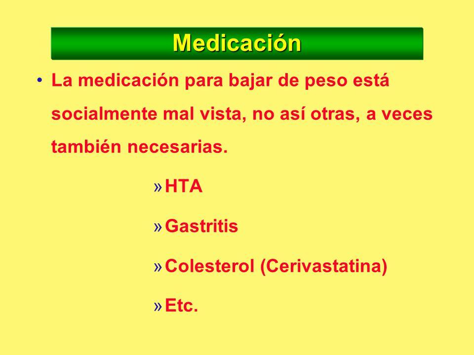Indicación de la terapia farmacológica para el exceso de peso 1. 1.Pacientes con IMC > 30 2. 2.Pacientes con IMC > 25 con algún FR (HTA, diabetes, dis