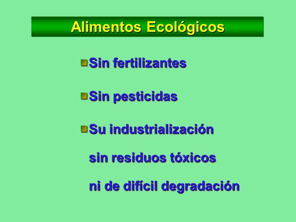 Alimentos Orgánicos De origen vegetal por cultivos biológicos De origen vegetal por cultivos biológicos