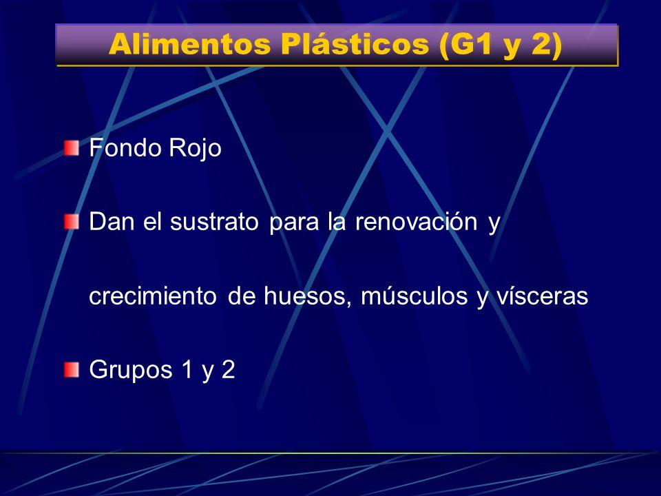 Alimentos Plásticos (G1 y 2) Grupo 1 Grupo 2