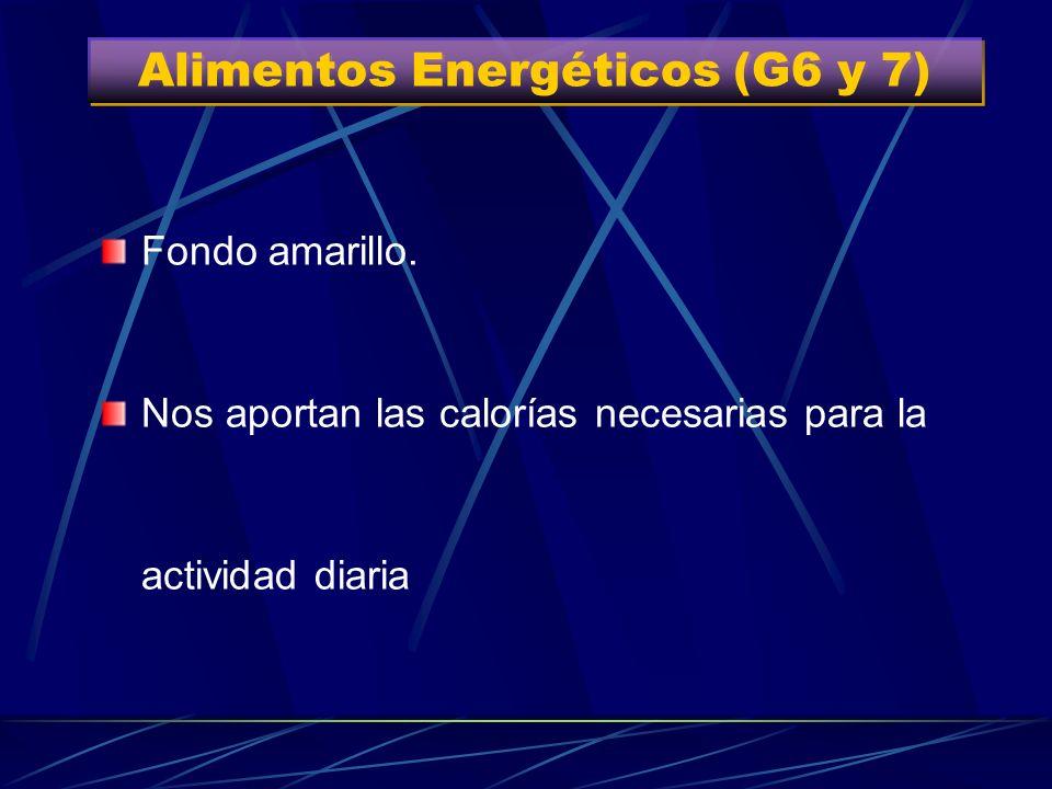 Alimentos Energéticos (G6 y 7) Grupo 6 Grupo 7