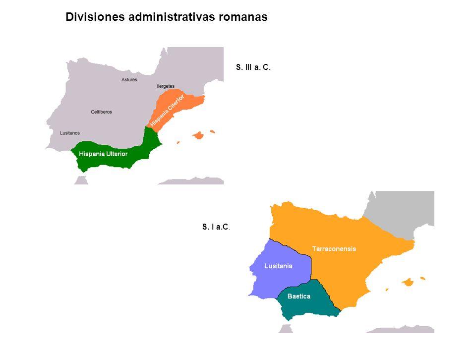 Divisiones administrativas romanas S. III a. C. S. I a.C.