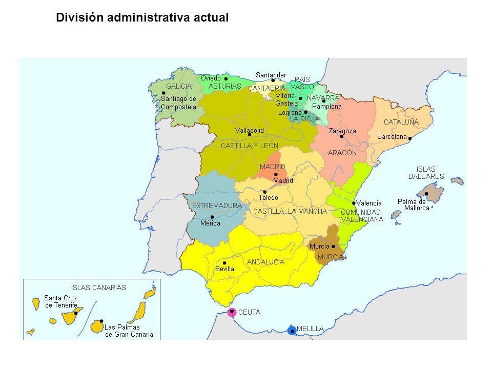 División administrativa actual