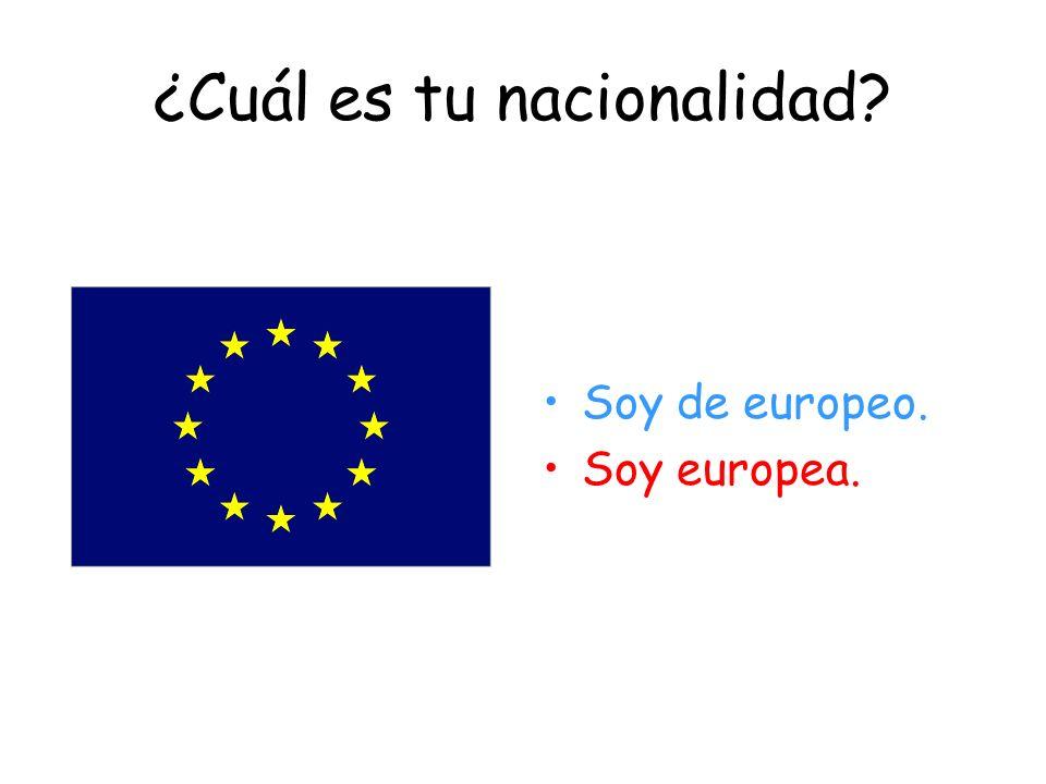 ¿De dónde eres? Soy de España.