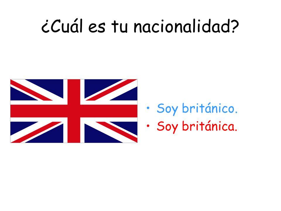 ¿De dónde eres? Soy de Inglaterra.