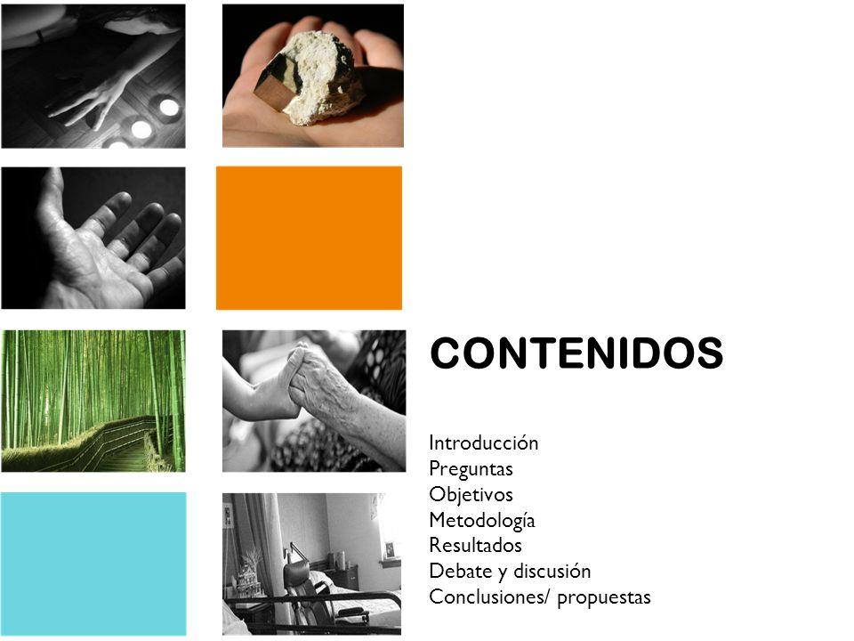 CONTENIDOS Introducción Preguntas Objetivos Metodología Resultados Debate y discusión Conclusiones/ propuestas