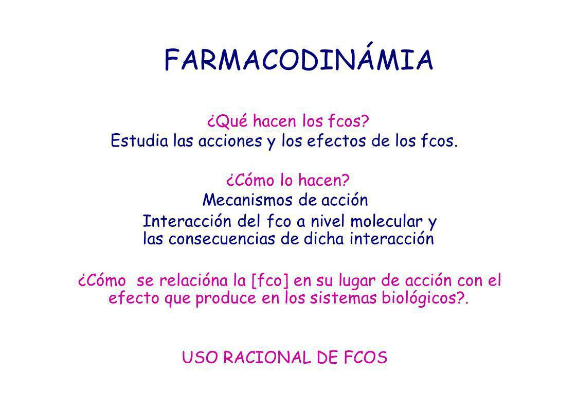 FCO MODIFICA (estimula o inhibe) procesos celulares NO ORIGINA mecanismos o reacciones nuevas en la célula PARA ELLO: el fco necesita INTERACTUAR con moléculas que, una vez modificadas por él originan cambios en la actividad celular.