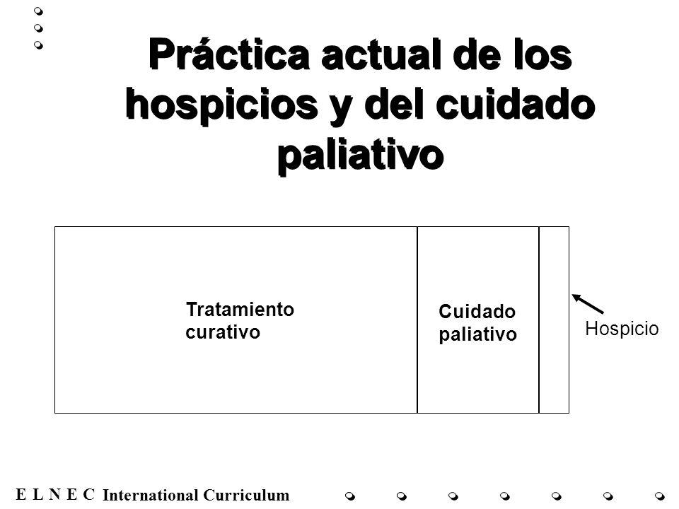 ENECL International Curriculum Tratamiento curativo Cuidado paliativo Hospicio Práctica actual de los hospicios y del cuidado paliativo