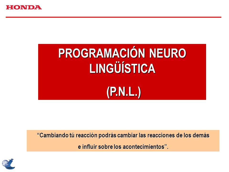 comportamiento del ser humano se produce a partir de unos PROGRAMAS MENTALES se asientan en el SISTEMA NERVIOSO pueden ser modelados LENGUAJE La programación neuro lingüística o P.N.L.
