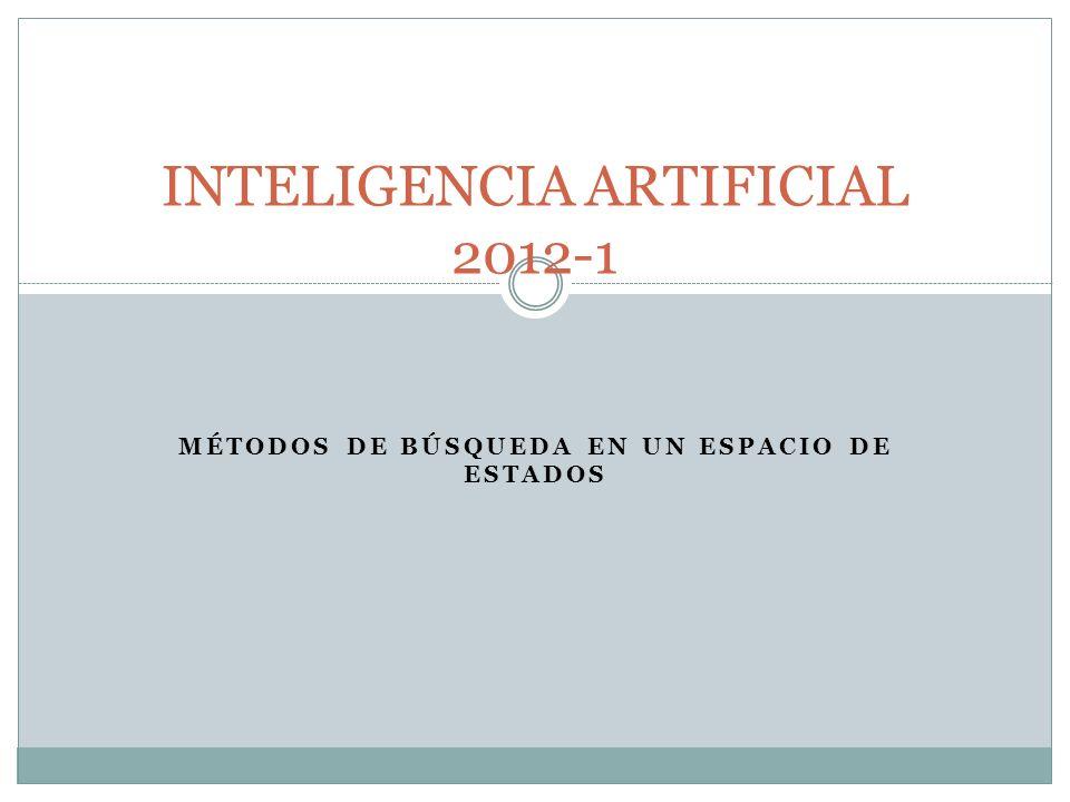 MÉTODOS DE BÚSQUEDA EN UN ESPACIO DE ESTADOS INTELIGENCIA ARTIFICIAL 2012-1