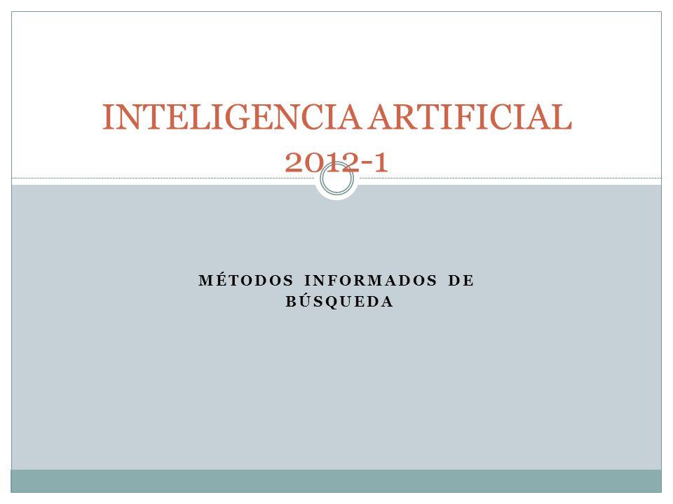 MÉTODOS INFORMADOS DE BÚSQUEDA INTELIGENCIA ARTIFICIAL 2012-1